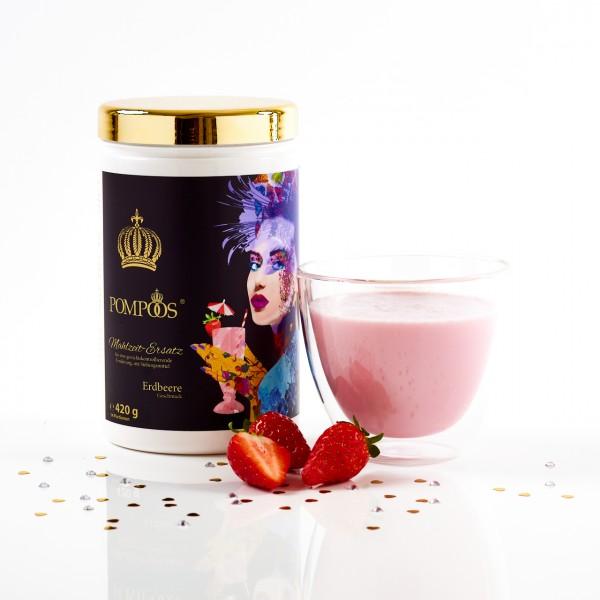 Pompöös Mahlzeitersatz Erdbeere 420g (14 Portionen)