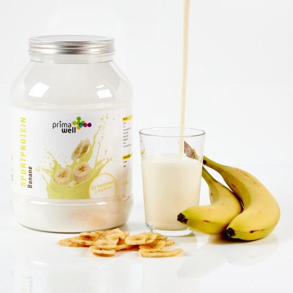 Primawell Sportproteinshake Banane + Enzyme 1000g