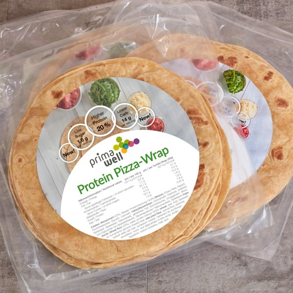 Primawell Protein Wrap (1 Packung mit 8 Wraps)