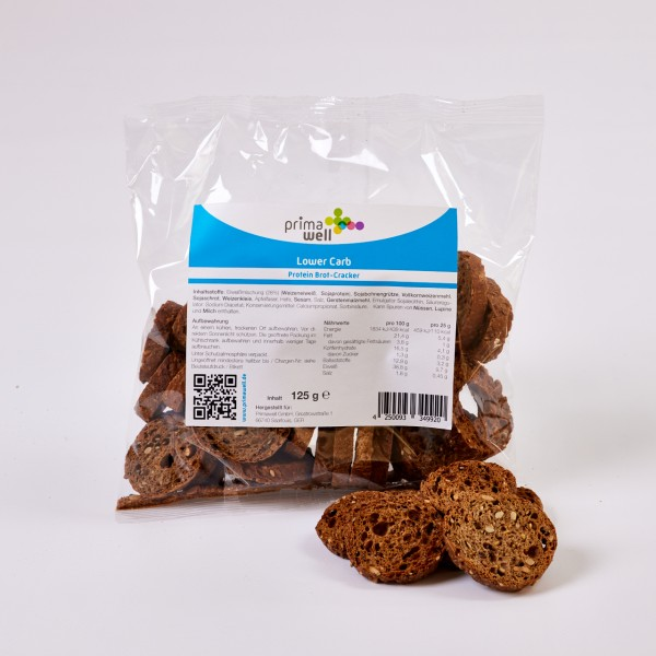 Primawell Lower Carb Protein Brot-Cracker 125g