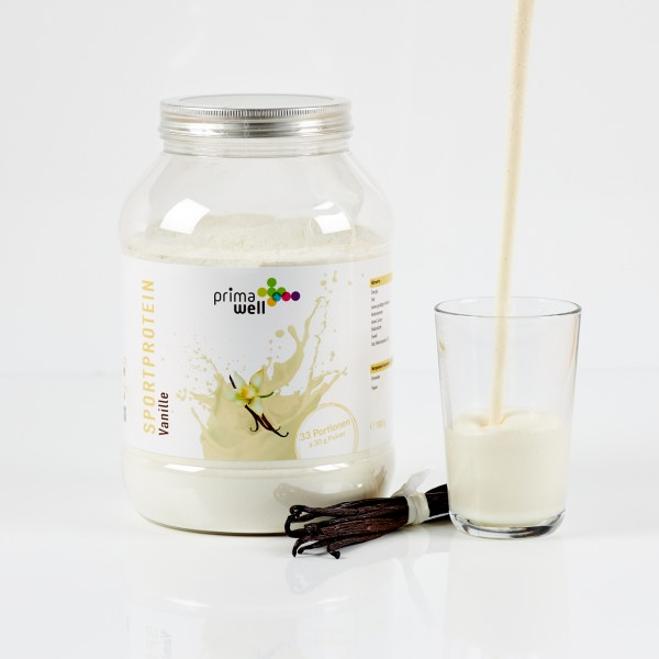 Primawell Sportproteinshake Vanille + Enzyme 1000g